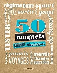 Cadeaux petits prix 50 magnets bonnes résolutions