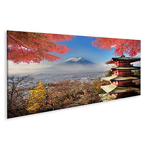 islandburner Cuadro en Lienzo El Monte Fuji con los Colores del otoño en Japón Cuadros Modernos Decoracion Impresión Salon