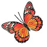 Yardwe 40 cm pared mariposas adhesivo doble capa 3D mariposas removible mural pegatina DIY insecto refrigerador decoración para el hogar tienda color al azar