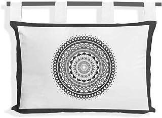 Cabecero de algodón 45 x 70 cm Mandala Gris