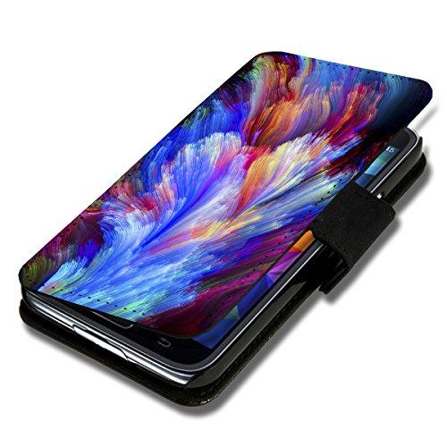 Book Style Flip Handy Tasche Hülle Schutz Hülle Schale Motiv Etui für Huawei Ascend Y330 - A52 Design4