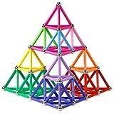 Elongdi Magnetic Building Blocks, [ 132 Pieces ] Lengthen Building Sticks Set, Magnet Stem Toys Set Non-Toxic Building 3D Puzzle Boys Toys for Kids and Adult