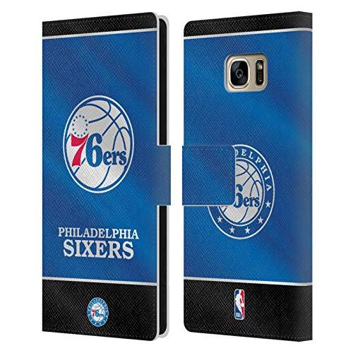 Head Case Designs Ufficiale NBA Banner 2019/20 Philadelphia 76ers Cover in Pelle a Portafoglio Compatibile con Samsung Galaxy S7 Edge