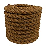 Manila Rope   Treated Natural Fiber   3 Strand Twisted   Indoor or Outdoor Decorative Projects   1 inch x 150 feet