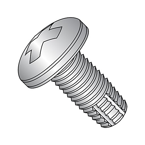 Steel Thread Rolling Screw for Plastic Pan Head 1//2 Length Pack of 100 #4-20 Thread Size Phillips Drive Zinc Plated