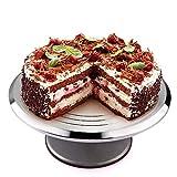 Uten Présentoir à Gâteau, Tournant de Gâteau pour Décoration, Pâtisserie 6-12 Pouce en INOX pour Servir de Présentoir,...