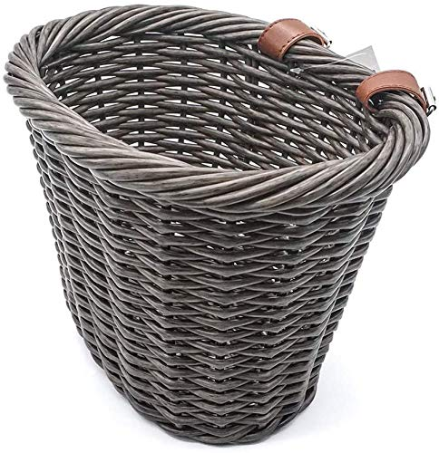 MOHEGIA Bike Basket,Front Handlebar Adult Women Bicycle Storage Waterproof Baskets-Brown New