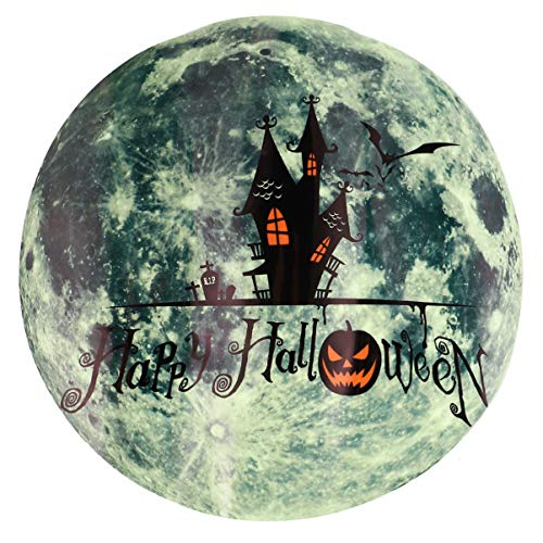 NUOBESTY - Adhesivo luminoso de castillo de Halloween, que brilla en la oscuridad, para fiestas de Halloween, ventanas, oficinas, accesorios de broma