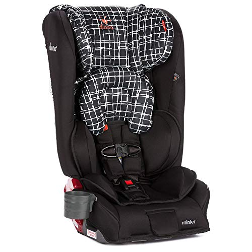Diono Rainier All-in-One Convertible Car Seat, For Children from Birth to 120 Pounds, Black Plaid