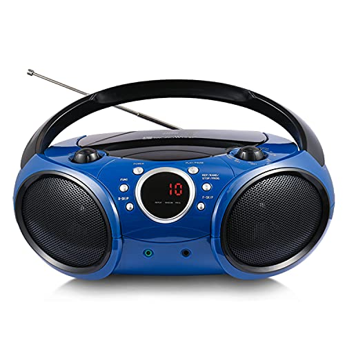 SINGING WOOD 030B Portable CD Player Boombox with Bluetooth for Home...
