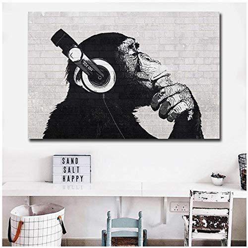 zhaoyangeng AFFE muurkunst Hd Print 1 stuk canvas kunst dierenschilderij muurkunst modulair beeld voor woonkamer decoratie - 60X90cm zonder lijst