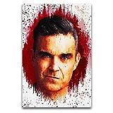 WPQL Robbie Williams (2) Poster Dekoration Gemälde