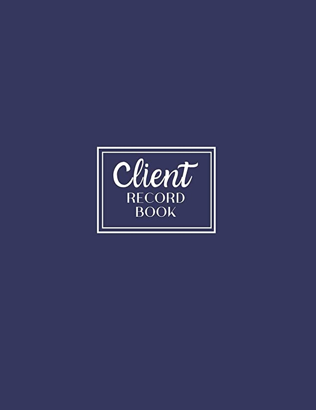Client Record Book: Personal Client Tracking Log with A-Z Alphabetized Tabs for Hair Stylists, Barbers, and More Professional Navy