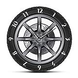 Horloge Horloge Murale Silencieuse Moderne Service De Voiture Réparation Garage Propriétaire Roue De Pneu Voiture Personnalisée...