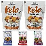 Natures Garden Bulk Snack Mix - Pack of 5 Bags - 2 Bags of Keto Snack Mix (24 oz Per Bag), 1 Bag of Cranberry Health Mix (1.2 oz), Omega 3 Mix (1.2 oz), and Heart Healthy Mix (1.2 oz) - 51.6 oz Total