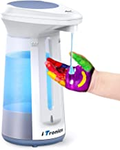 iTronics 113 Automatic Hand Sanitizer Dispenser Touch Free Dish Soap Dispenser for Kitchen Bathroom Liquid Hand Soap Refill 330ml/12oz