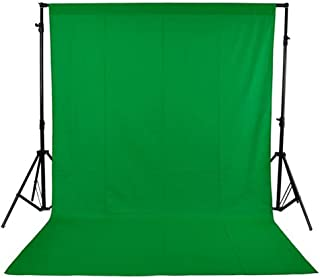 1.6 x 3M / 5 x 10FT Photography Studio Non-woven Backdrop Background Screen 3 Colors for Option Black White Green