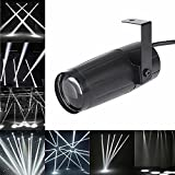 LED Beam Pinspot Light KINGSO 3W Mini Stage Lights Spotlight Track Lighting for Children's Theater Family Party Club Cinema Karaoke Wedding or Outdoor Show - Pure White