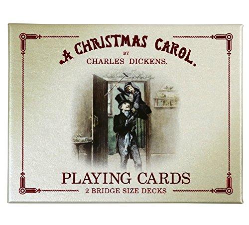 Cartamundi, A Christmas Carol, Plastic Coated Bridge Size Playing Cards - 2 Decks with Box