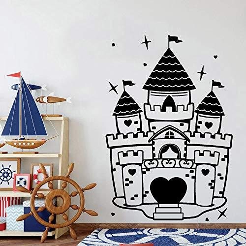 wopiaol Prinses Kasteel Muur Art Sticker Kwekerij Kids Slaapkamer Kamer Vinyl Muursticker Woonkamer Klas Decoratie Creatief