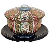 ランチャン(Ranchant) 茶托付汲出 マルチ 茶托:12.2x1.6cm 錦古伊万里 有田焼 日本製