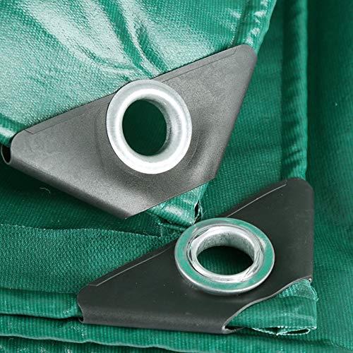 SJSF Y Plane Gewebeplane Brandschutz Sonnenschutz Hochfeste Leinwand Metallöse Außen Carport, 21 Grössen (Color : Green, 500g/㎡),3x5m