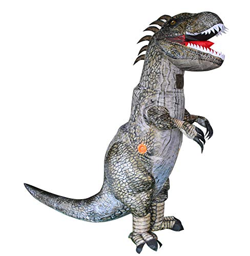 LCSA Disfraz hinchable T-Rex para Halloween, Tyrannosaurus Cosplay Dinosaurio Clothes Show Disfrazado Juguetes