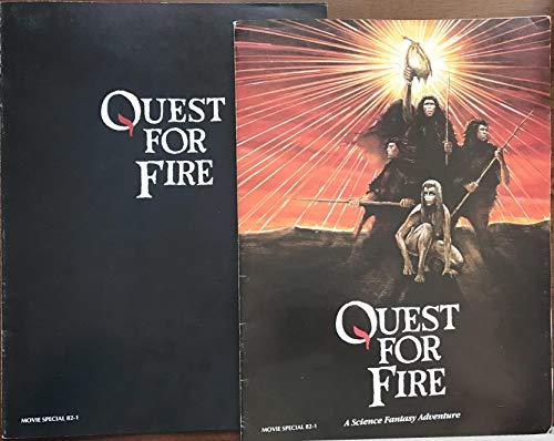 QUEST FOR FIRE DOUBLE MOVIE PROGRAM DUO- 9x12 - SHIPS FLAT - 1982 - Everett McGill - Rae Dawn Chong - Ron Perlman - Nameer El-Kadi
