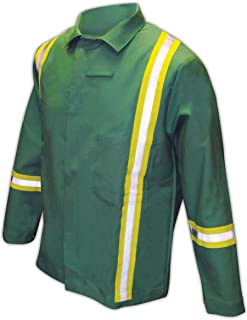 IND2530HV Magid IND2530HV Arc-Rated 12 oz. 100% FR Cotton Jacket with Hi-Viz Stripes