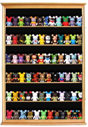 Large Wall Mounted Curio Cabinet Shadow Box for Action Figures, Figurines, CDSC16-OA