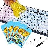 Kit Limpiador de Teclado,4 pcs Limpiador Teclado Gel Universal de Limpieza, Limpiador Teclados para Portátiles y PC, Ventilaciones de Automóviles, Calculadoras