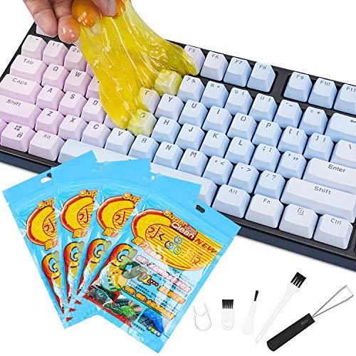Pulizia PC, Gel Detergente per Tastiera per Laptop e PC,Melma Detergente per Auto per Kit per la Pulizia Della Polvere Dell'auto ed Elettronica.