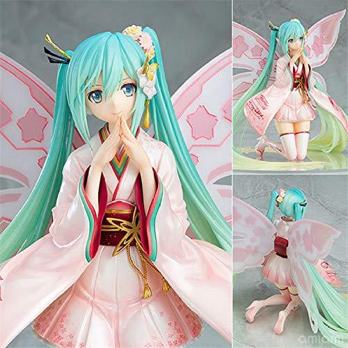 Figure Model Collectible Hatsune Miku Kimono Pink Fairy Figure Figure 22Cm. Model Collectible Pvc Toys Anime Character Model Anime Fans' Favorite Toy Anime Character Model Statue Toy Anime Fans' Favo
