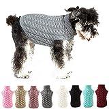 Petyoung Gilet Maglione per Cani Maglione Invernale per Cani Lavorato a Maglia all'Uncinetto Cane Cucciolo Vestiti Morbidi Maglioni Caldi per Maglieria per Cani di Taglia Media