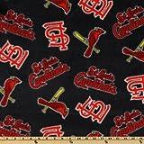 MLB Fleece St. Louis Cardinals Toss Red/Blue, Fabric by the Yard