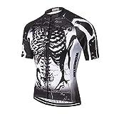 Shenshan Maillot de ciclismo para hombre, de manga corta, con cremallera, transpirable, para verano, para hombre, color negro, talla XL
