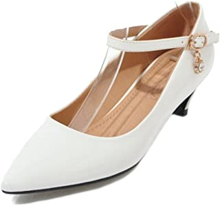 SJJH Court Shoes with Pointed Toe and Kitten Heel Casual Shoes for Fashion Women