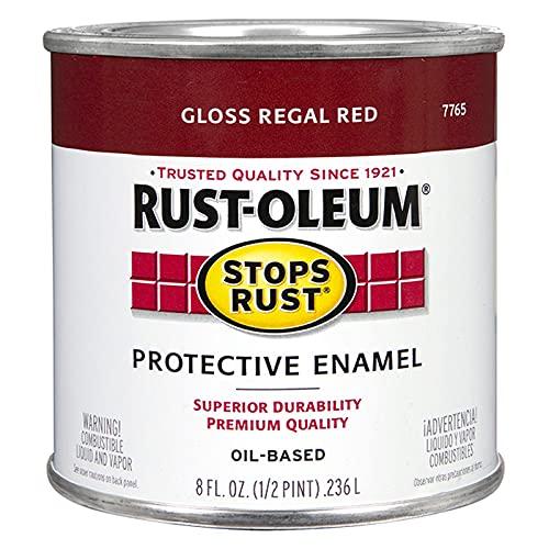 Rust-Oleum 7765730 Stops Rust Brush On Paint, 8 Fl Oz (Pack of 1), Gloss Regal...