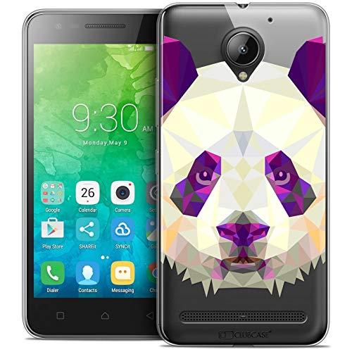 Caseink - Hülle Schutzhülle Case Für Lenovo C2 K10A40 (5) [Crystal Schutzhülle Case Gel HD Polygon Series Animal - Flexibel - Ultra dünn - Gedruckt in Frankreich] Panda