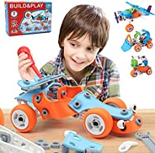 132 PCS STEM Learning Toys – Education Engineering and DIY STEM Construction Kit – Best Building Set for 6 7 8 9 10+ Year Olds Boys & Girls That Love to Build – Creative Stem Gift Play Set for Kids