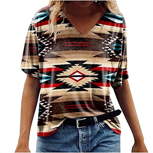 Camiseta de manga corta con cuello en V para mujer, para fiesta, elegante, para mujer, talla 7 a 10 días