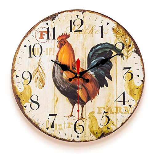 Vintage Colorful Farm House Style Wall Clock