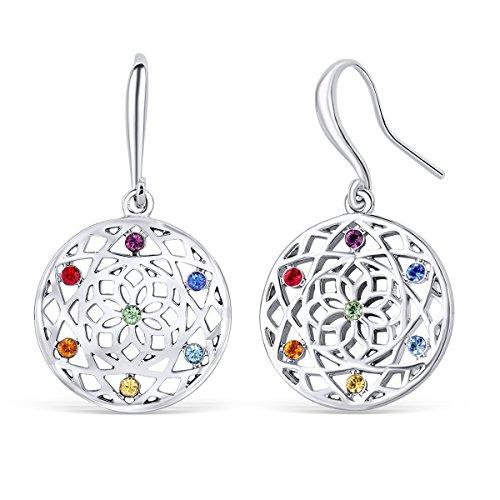 Chakra flower Ohrringe mit Swarovski® Kristallen