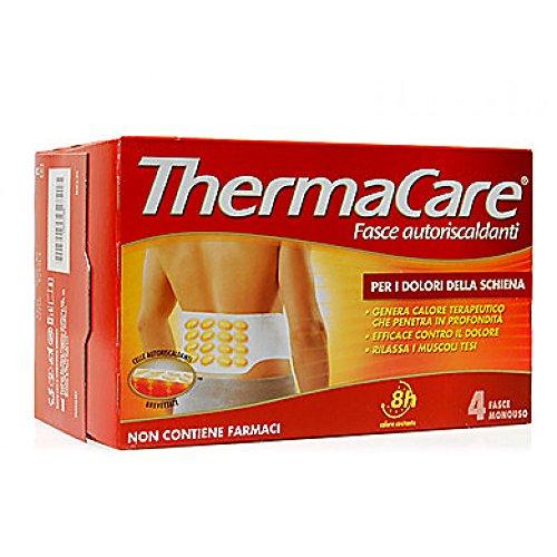 ThermaCare Schiena Fasce Autoriscaldanti a Calore Terapeutico per i Dolori della Schiena, 8 Ore Calore Costante, 4 Fasce Monouso