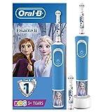 Oral-B Kids - Cepillo Eléctrico Recargable con Tecnología de Braun, 1 Mango de Frozen de Disney (1 o 2), Apto para Niños Mayores de 3 Años