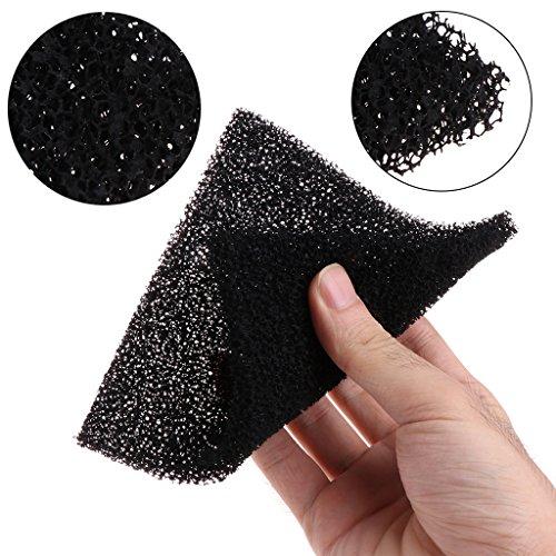 SimpleLife 5 Piezas Esponja de Espuma de carbón Activado Negro Universal Filtro de Aire impregnado Almohadilla