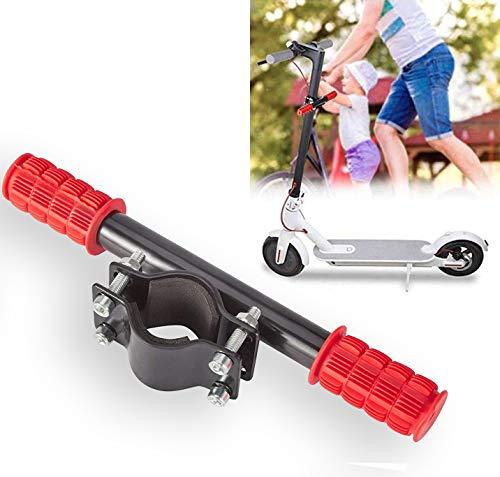 ASEOK Scooter Manillar para niños Barra de Agarre Ajustable Holder Seguro Kids Barandilla para Xiaomi M365 Scooter (Rojo)