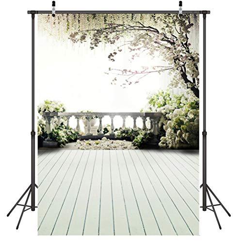 foto achtergrond vouwen balkon foto achtergrond doek 3D Vinyl muur rekwisieten voor afstuderen bruiloft, 1.5X2.1M