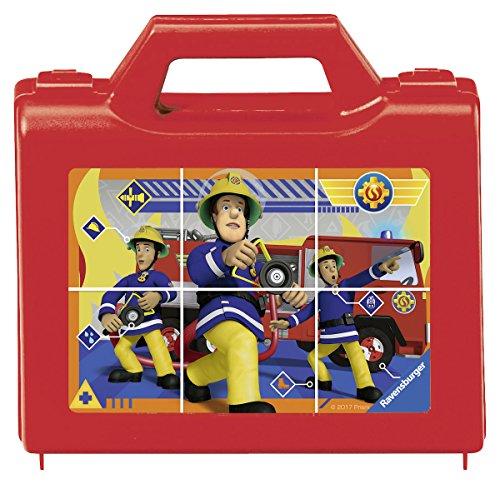 Ravensburger Kinderpuzzle 07437 - Sam, der tapfere Feuerwehrmann - 6 Teile Würfelpuzzles