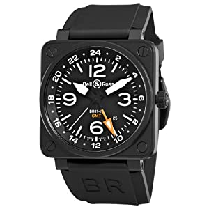 Bell & Ross Men's BR-01-93-GMT Aviation Black GMT Dial Watch Watch image